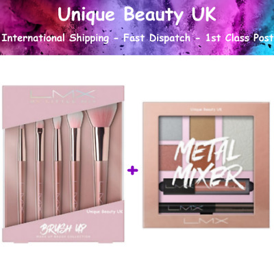 LMX By Little Mix BRUSH UP Make Up Brush Collection + METAL MIXER  - 2019 - NEW
