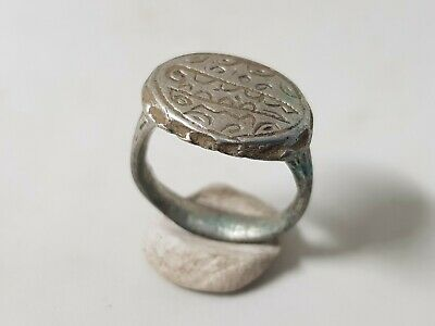 Viking Silver Ring with Runic Symbols 10th,14en Century AD