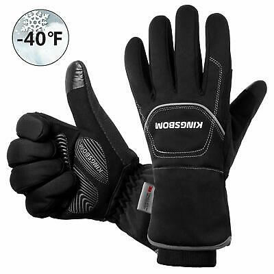 KINGSBOM Waterproof & Windproof Thermal Gloves - 3M Thinsulate Winter Touch S...
