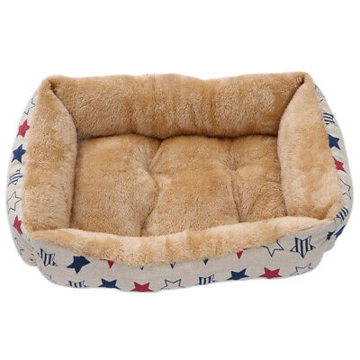 60CM Lounger Dog Bed Soft Washable Fleece Fur Cushion Warm Luxury Pet Basket UK
