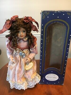 Boxed Porcelain French Doll Pierre Collins Collection Hand Made Hand Painted