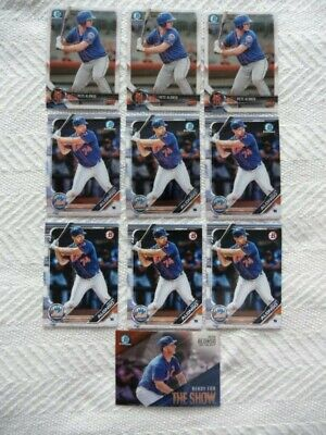 2018 2019 Bowman Chrome Prospect Lot Peter Alonso Mets