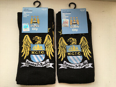 2 Pairs Official Man City FC Socks. UK Size Men's 6-11 Brand NEW Manchester City