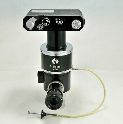 Nikon M-35 S Microscope Camera, Viewport, Electronic Shutter and Cable-release