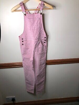 Mini Boden pink cord dungarees age 9-10yrs Hardly worn girls