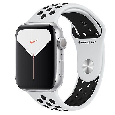 Apple Watch Nike Series 5 44mm GPS Silver Aluminium Case with Nike Sport Band