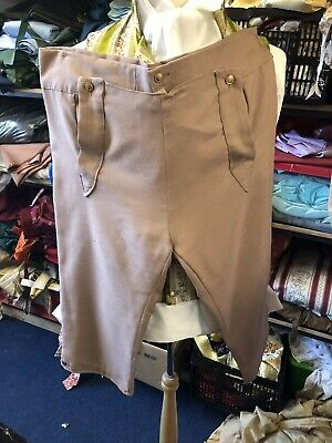 Regency Style Gentleman's Breeches Tan Linen