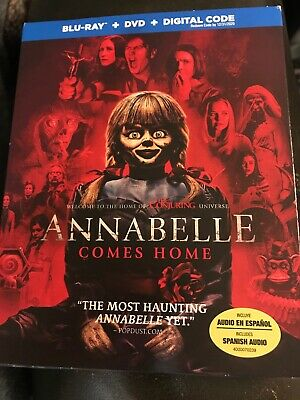 Annabelle Comes Home(Blu-Ray+Dvd+Digital)W/Slipcover New