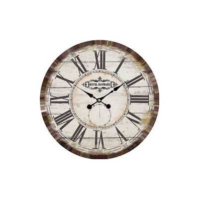 Clock Wall Clock Hotel from Wood Ø 34cm Antique White My Flair