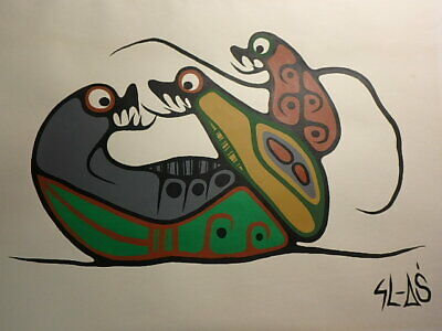 Sam Samuel Ash Original Indigenous Native Aboriginal Woodland Art Ojibway Canada