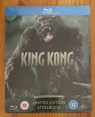 King Kong (2005) Limited Edition Bluray Steelbook. New & OOP