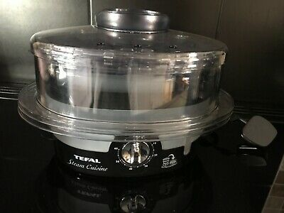 Tefal VC100715 3 Tier Black Ultra Compact Steamer