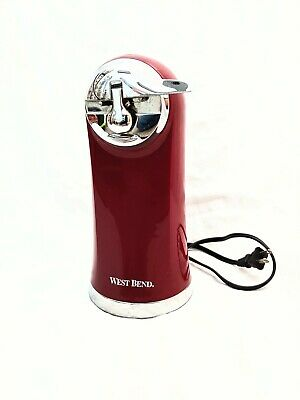 West Bend Electric Can Opener Red Mint Condition Discontinued By Manufacturer