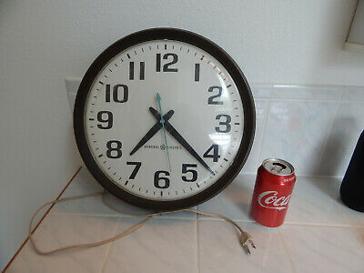 Clock mid century school vtg wall General Electric large model 2012 industrial