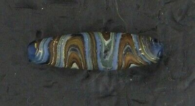 Ancient Glass Bead. Egypto Roman Period 100 BCE.  Transverse Wave Mosaic Bead