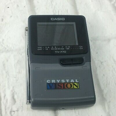 Casio TV-770B Battery Operated Handheld TV Crystal vision