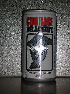 1 x 370ML COURAGE DRAUGHT EXPERT DRINKER BEER CAN