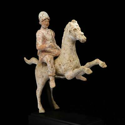 A Greek Terracotta Warrior on Horse, Canosa, circa 4th-3rd Century BCE