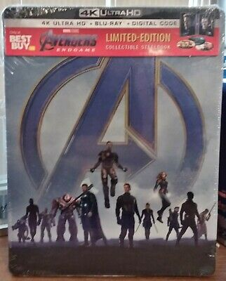 AVENGERS: Endgame ( Blu-ray, 2019, Limited Edition) STEELBOOK