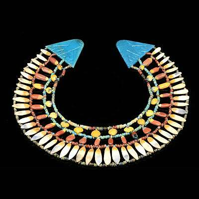 * An Egyptian Floral Broad collar Necklace, Amarna Period, ca. 1352-1336 BCE