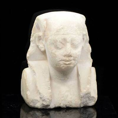 An Egyptian Limestone Sculptor's Model of a Pharaoh, Ptolemaic Period, ca. 332 -