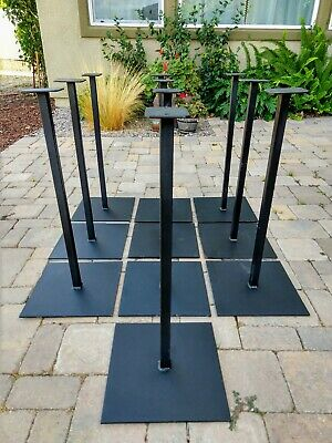 """1 Black Metal Pipe STAND for gumball or candy vending machine. Base 12"""" x 12""""."""