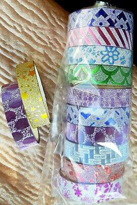 Christmas Birthday Anniversary Glitter Cute Print Gift wrapping Cello Tape Bow