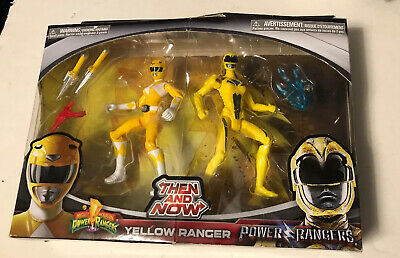 Mighty Morphin power rangers then and now yellow ranger  New In Box