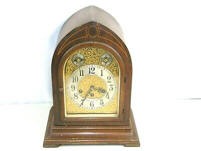 "Cathedral Seth Thomas Grand Mantel Clock Westminster Chime 15"" Beehive"