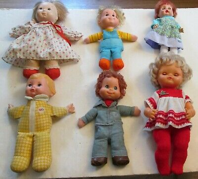 Lot of 6 Vintage Doll Toys 60s 70s Fisher Price Mattel Retro Dolls Collectible