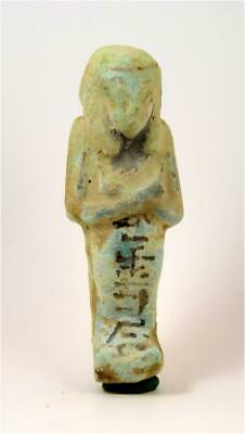 Egypt TIP 21/22th Dynasty blue faience shabti of Nes(y)-Khonsu.