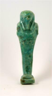 Egypt Late period 30th dynasty green-blue faience ushabti