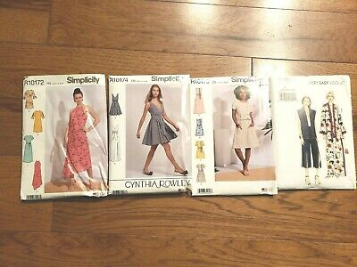 HUGE LOT 4  Simplicity Miss Sewing Pattern  DRESS VEST PANT  easy  new size 4-14