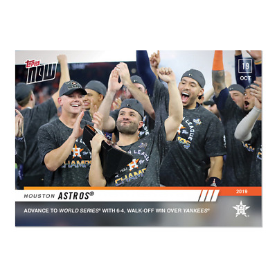 2019 Topps Now #1037 Houston Astros Walk-off win ALCS advance to World Series