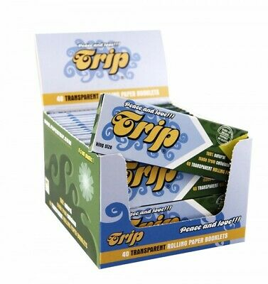 Trip 100% Natural Plant Cellulose Transparent Clear Full Box Rolling Paper