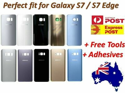 Samsung Galaxy S7 Edge / S7 Back Rear Glass Housing Battery Cover Case + Tools
