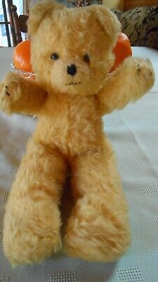Vintage Tagged 'Jakas' Gold Teddy Bear 1970'S/80'S 33Cm Long
