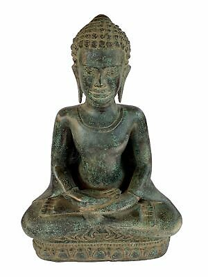 Buddha - Antique Thai Style Seated Bronze Meditation Buddha Statue - 38cm/15""