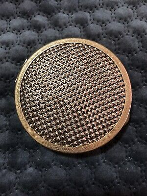 Vintage Mesh Powder Compact. Gold. New Condition Unused
