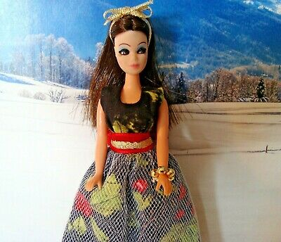 Topper Dawn doll  OUTFIT  Custom CHRISTMAS DRESS   OUTFIT with vintage shoes