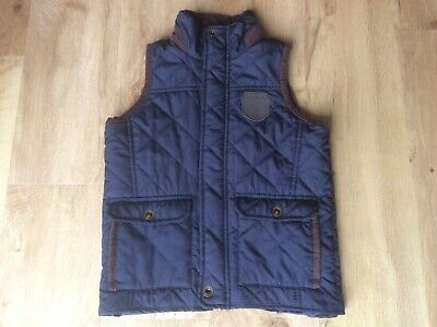 Boys Girls Regatta Navy Blue Quilted Gilet Body Warmer Age 7-8 Vgc
