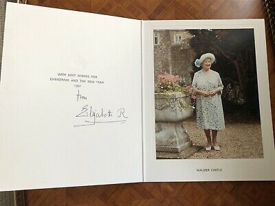 Christmas Card Elizabeth Queen Mother Royal Provenance Royalty Collectible