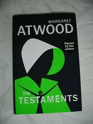The Testaments by Margaret Atwood SIGNED UK 1st with pin badge