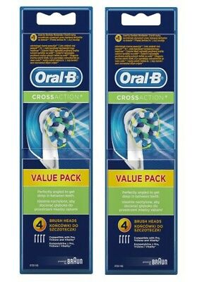 Braun Oral B CrossAction Electric Toothbrush Replacement Brush Heads (8 pack)