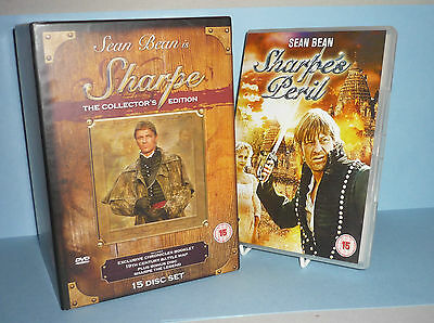 Sharpe The Collector's Edition 15 Disc Dvd Boxed Set + Sharpes Peril (2 Dvd) Ex