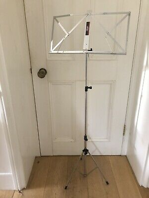 Silver Music Stand Adjustable Height