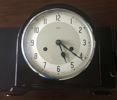 Medium Size Vintage Enfield Mantle Clock Needs Attention Case In Great Condition