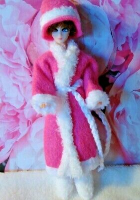 Topper Dawn doll OUTFIT  PINK   FELT JACKET  with HAT and boots ..very nice