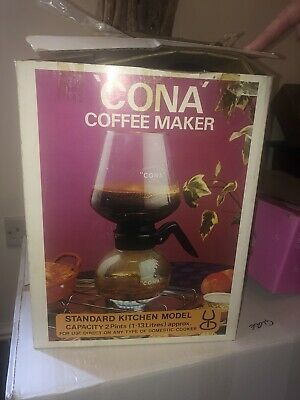 Vintage CONA Coffee Maker Standard Kitchen Hob Model Retro 1970s 2 Pints