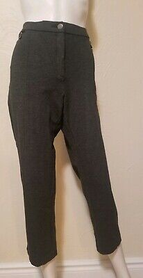 JM Collection Womens Size 16 Charcoal Gray Tapered Leg Crop Stretch Pants Ins 25
